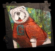 "Contemporary Painting - ""UGA"" (Original Art from fred budin)"