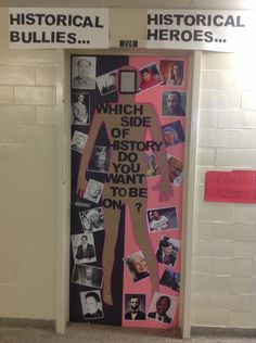 Anti-Bullying door decoration. Sea of Pink door.