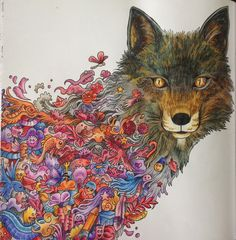 Animorphia using Prismacolour and Polychromos pencils...