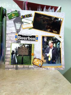 New Orleans scrapbook page