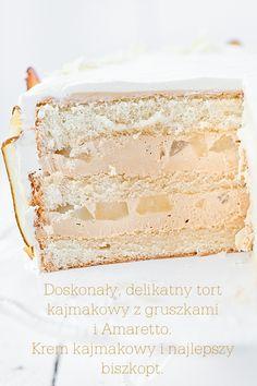 almond amaretto cream pear cake