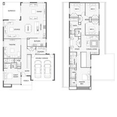 Marvelous Home Design Architectural Drawing Ideas. Spectacular Home Design Architectural Drawing Ideas. New House Plans, Dream House Plans, House Floor Plans, Double Storey House Plans, Double Story House, House Construction Plan, I Love House, Mountain House Plans, Floor Layout