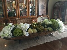 Kitchen Island Centerpieces another fabulous book club | artichokes, dough bowl and centerpieces