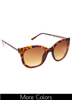 Shop Prima Donna - Roman Rounded Cat Eye Sunglasses at Prima donna