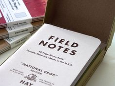 Field Notes Notizhefte