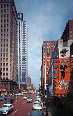 1950s, Houston Street, Fort Worth, Texas