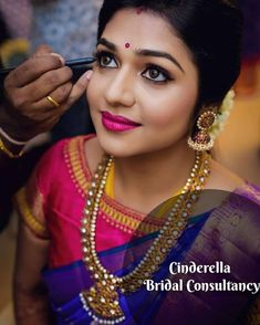 Makeup artist brews magic on every bride's big day! They understands the bridal needs and brings out nothing, but the best. Doing makeup to… Bridal Makeup Looks, Indian Bridal Makeup, Bride Makeup, Bridal Looks, Wedding Makeup, Silk Saree Blouse Designs, Bridal Blouse Designs, Silk Sarees, Indian Wedding Hairstyles