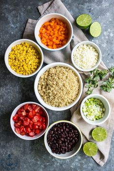Southwestern Quinoa Salad with Lime Dressing and Cotija Cheese | The Beach House Kitchen