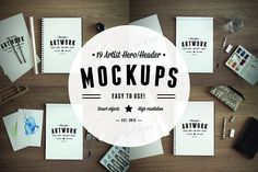 19 Artist Hero/Header Mockups by RAPPIDLY on @creativemarket