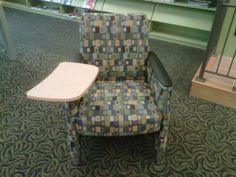 Arc-Com Sagrada medium scale blue, gray, tan geometric print upholstery fabric. www.arc-com.com