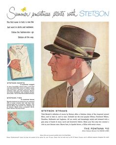 1958 Stetson hat ad