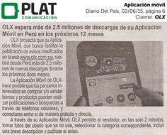 OLX: Proyecciones de aplicación móvil en el diario Del País de Perú (02/06/15)