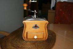 GERMAN DOUBLE HOPPER COFFEE GRINDER ZASSENHAUS, CHERRY TREE