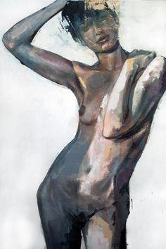 """""""Nude 2"""" - Acrylic on canvas - 90cm x 60cm- Benjamin García"""