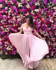 Ruched Chiffon Off Shoulder Prom Dresses Long Party Gowns, Party Dress, Bridesmaid Dresses, Prom Dresses, Formal Dresses, Pink Dress, Dress Up, Dress Vestidos, Wedding Looks