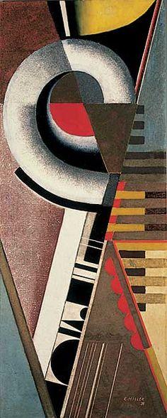 Karol Hiller Composition with a spiral, 1928