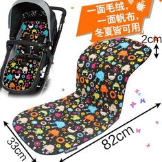 Self-Conscious Newborn Baby Stroller Cartoon Umbrella Cart Car Print Cushion Seat Soft Stroller Pad Mattresses Pillow Cover Child Car Pad Strollers Accessories Mother & Kids