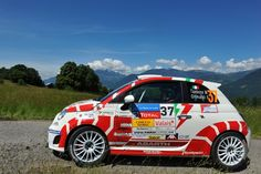 FIAT 500 Abarth rally car and OZ Racing wheels #fiat500 #abarth