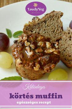 Szuper egészséges és különleges körtés muffin egészségesen! Muffin, Snacks, Breakfast, Recipes, Food, Bulgur, Morning Coffee, Appetizers, Recipies