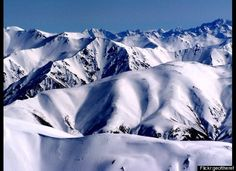 Southern Alps - New Zealand. Taken from the top of Mt Hutt skifield looking west over the alps.