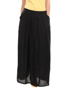 Femella Women Black Maxi Skirt