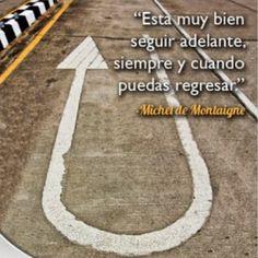 Michel de Montaigne. Esta muy bien seguir adelante, siempre y cuando puedas regresar. Michel De Montaigne, Writer, Moving On