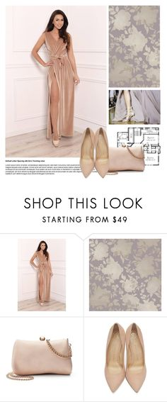 """""""DesirVale 1/20"""" by elmaimsirovic ❤ liked on Polyvore featuring Tempaper, LC Lauren Conrad, Charlotte Olympia and plus size dresses"""