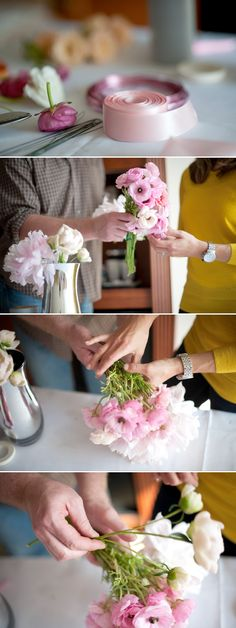 How to DIY bouquet instructions. How to DIY bouquet instructions. How to DIY bouquet instructions. Simple Wedding Bouquets, Diy Wedding Flowers, Simple Weddings, Diy Flowers, Bouquet Wedding, Flower Diy, Bouquet Flowers, Simple Flowers, Beautiful Flowers