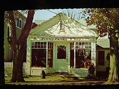 Water Mill Long Island NY Penny Candy Shop Postcard 1950s