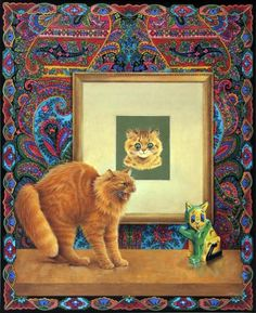 DANDELION MEETS LOUIS WAIN'S CATS by LESLEY ANNE IVORY