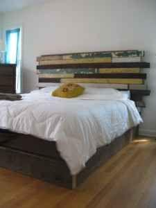 anthropologie inspired bed frame
