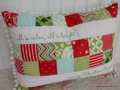 Christmas pillows with links to patterns and tutorials.