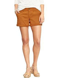 boyfriend shorts / love the color