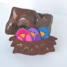bird, eggs, nest toy