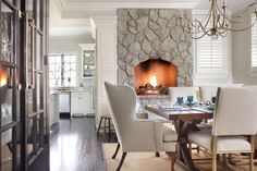 Get inspired with dining room ideas and photos for your home refresh or remodel. Wayfair offers thousands of design ideas for every room in every style. Eat In Kitchen, Gas Fireplace, Dining Room Design, Dining Table, Dining Rooms, Home Interior Design, Custom Homes, Building A House, House Design