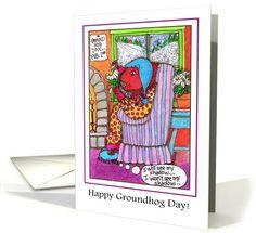 Groundhog Day Notecards | Greeting Card Universe by Susan J. Poda