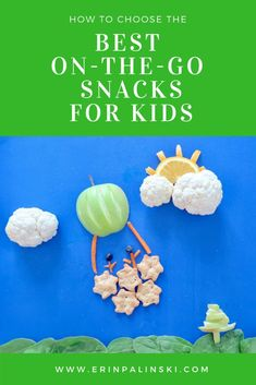 Healthy on the go snack ideas for kids food art for kids. #kidsfood #snacks #healthysnacks #healthysnacksforkids #foodart