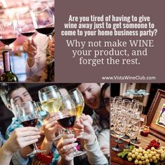 Are you tired of having to give wine away just to get someone to come to your home business party? Why not make wine your product and forget the rest. Learn more today. #wine #directcellars #workfromhome #workathome #mlm #networkmarketing #mommytime #arbonne #wrapparty #itworks #herbalife #amway #marykay #essentialoils #industryfirst #groundfloor