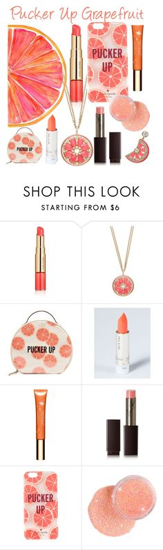 """Pucker Up Grapefruit"" by lemongrass827 ❤ liked on Polyvore featuring beauty, Estée Lauder, Kate Spade, Clarins, Laura Mercier and candylips"