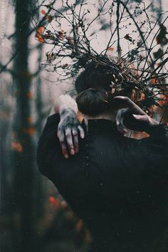 She was a forest, like the dark interlacing of the oak wood, humming audibly with myriad unfolding buds. Meanwhile the birds of desire were asleep in the vast interlaced intricacy of her body - D. Southern Gothic, Witch Aesthetic, Dark Photography, Photography Magazine, Editorial Photography, Dark Beauty, Dark Fantasy, Dark Art, Witchcraft