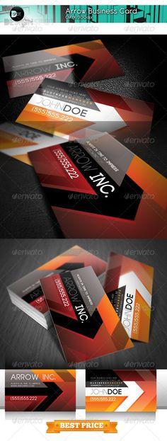 +Arrow Business Card