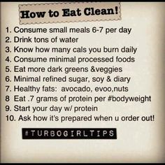 How to eat clean!