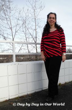 Paired with Black Slacks and short black boots the Dana Buchman top can be casual or dressy