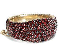 Victorian Bohemian Garnet Pavé Bracelet