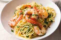 Linguine with prawns, chilli, garlic and rocket. This recipe is brought to you by the Taste team and Heinz.