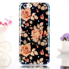IML Craft Blue-ray TPU Case for iPhone 6 6S Pink Flowers