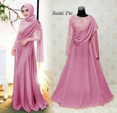 Dress Brokat Modern Muslim New Ideas Dress Brokat Muslim, Dress Pesta, Kebaya Muslim, Muslim Dress, Hijab Evening Dress, Hijab Dress Party, Hijab Style Dress, Modern Hijab Fashion, Trend Fashion
