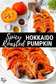 These Spicy Roasted Hokkaido Pumpkin Wedges are a simple, healthy, and delicious vegetarian side dish. Made with thin-skinned pumpkin also known as red kuri squash, the skin is edible which makes preparation a cinch for this hokkaido pumpkin recipe. Veggie Recipes Healthy, Tasty Vegetarian Recipes, Healthy Vegetables, Healthy Dishes, Vegetarian Comfort Food, Vegetarian Side Dishes, Veggie Side, Vegetable Side Dishes, Homemade Pumpkin Puree