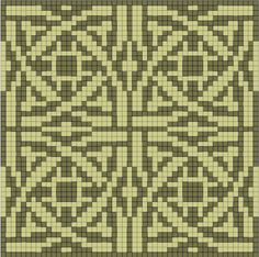 Could work as a colorwork chart, too. might make a nice pillow.