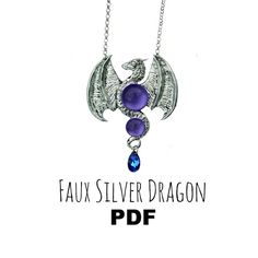 Polymer Clay Tutorial: Faux Silver Dragon PDF by VelvetoriumOnline
